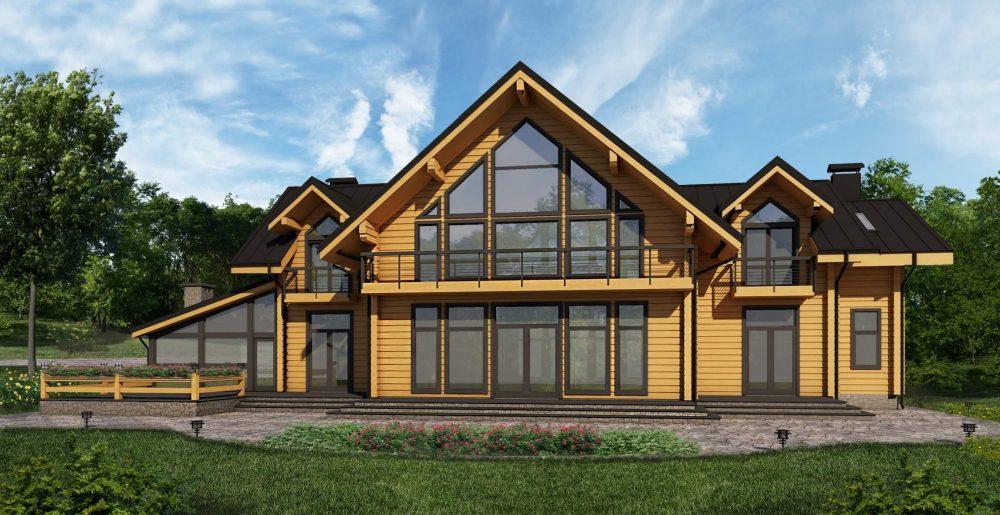 Гарний дерев'яний будинок