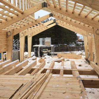 Большепролетные конструкции деревянного ресторана