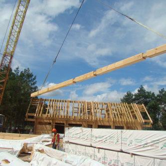 Строительство домов из клееного бруса хонка