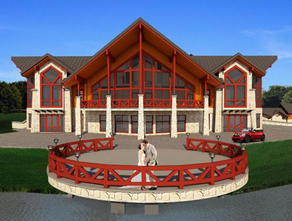 Строительство ресторанного комплекса из дерева