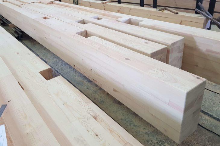 Деревянные балки перекрытия производство