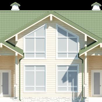 Проект двухэтажного дома из клееного бруса