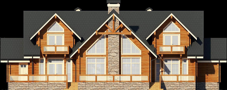 Элитный деревянный дом