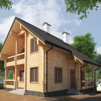 Двоповерховий будинок з клеєного бруса
