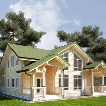 Деревянный дом проекты