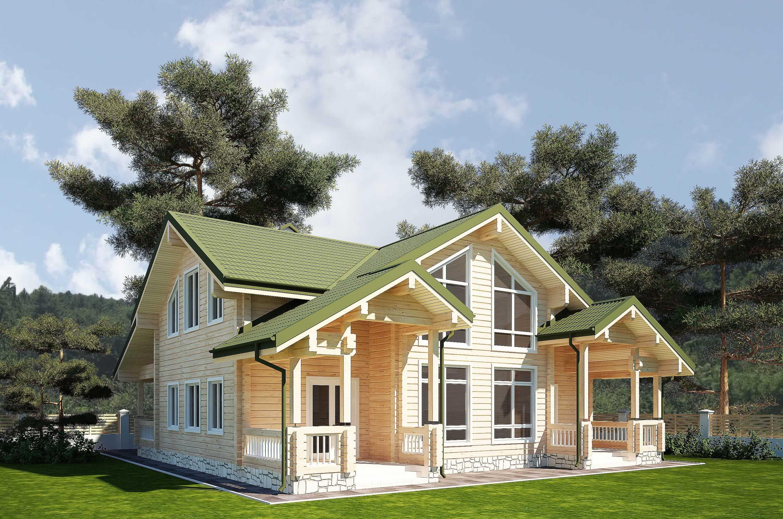 Проект дома из клееного бруса Киев
