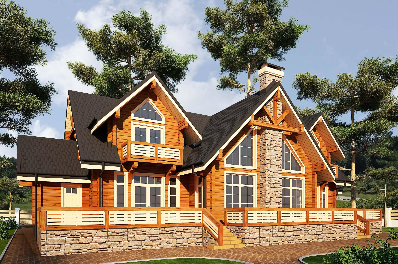 Елітні будинки з клеєного бруса