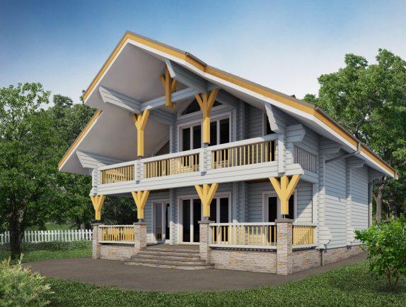 Стильный двухэтажный дом
