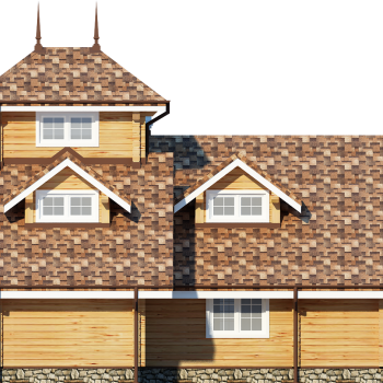 Дом с башней из бруса