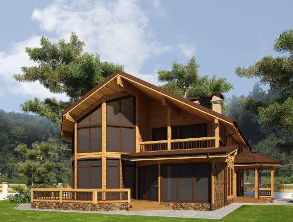 сучасний будинок з бруса