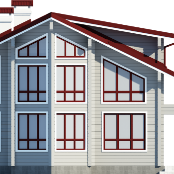 дом клееный брус