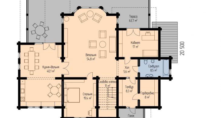 Єринія - план 1 поверху
