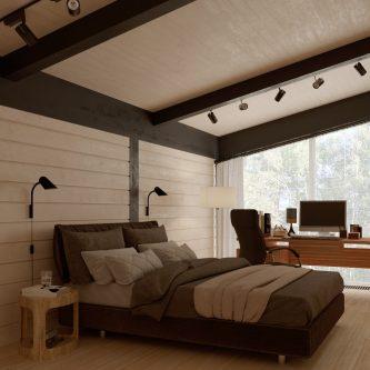 інтер'єр будинку з клеєного бруса