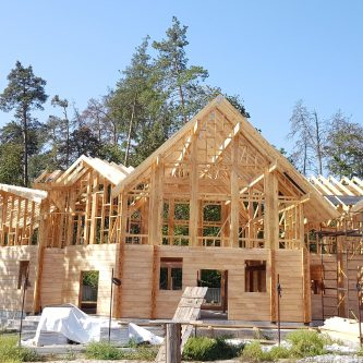 Будівництво будинка клеєний брус