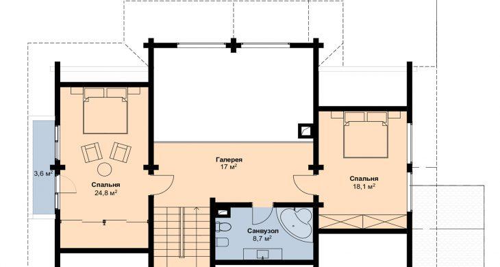 план дерев'яного будинку