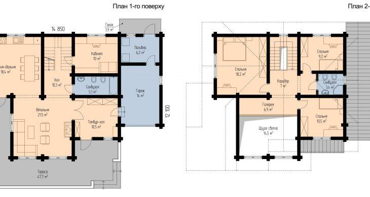 плани поверхів будинку