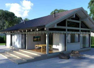 дом фахверк с террасой